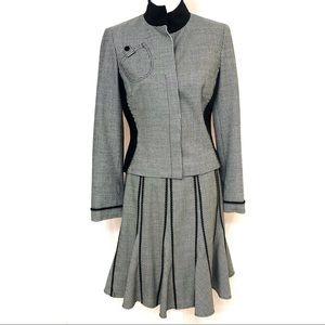 Carlisle Skirt Suit Houndstooth Military Jacket 6